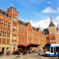 Photo taken at Amsterdam Centraal Railway Station by Russ L. on 4/13/2013