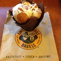 Photo taken at Einstein Bros Bagels by Jennifer J. on 10/15/2013
