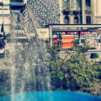 Photo taken at Plaza Fabini by Diego P. on 8/28/2013