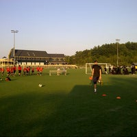 Photo taken at Amesbury Sports Park by Erik W. on 9/14/2012