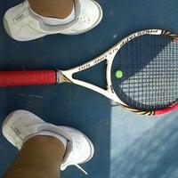 Photo taken at Hillside City Club Tennis Court by Belguzar Seren T. on 8/12/2013