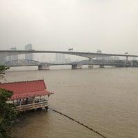 Photo taken at Rama III Bridge by Chinnapat V. on 10/16/2012