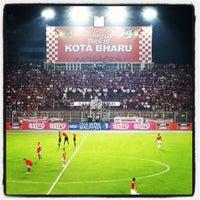 Photo taken at Stadium Sultan Muhammad IV by NurJannah A. on 5/18/2013