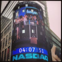 Photo taken at Nasdaq Marketsite by David H. on 4/29/2013
