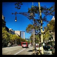Photo taken at Passeig de Gràcia by David F. on 11/5/2012