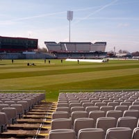 Photo taken at Emirates Old Trafford by Michael H. on 4/13/2013