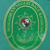 Photo taken at Pengadilan Negeri Kelas IA Bale Bandung by Abang G. on 4/29/2014