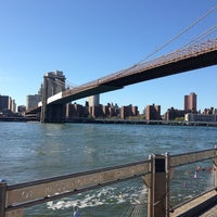 Photo taken at Under The Brooklyn Bridge by Nouf M. on 8/5/2013