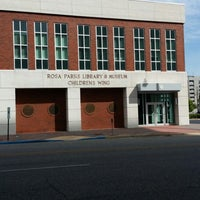 Photo taken at Rosa Parks Library and Museum by Victoria M. P. on 6/27/2014