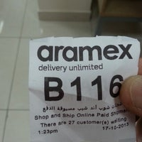 Photo taken at Aramex by Peter D. on 10/17/2013