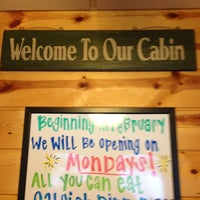 Photo taken at The Cabin Restaurant by A Plus Hood &. on 2/3/2014