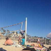 Photo taken at Huntington Beach Beach Volleyball Courts by Amanda S. on 9/28/2013