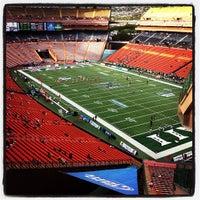 Photo taken at Aloha Stadium by Kauhi A. on 10/14/2012