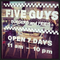 Photo taken at Five Guys by The G. on 4/12/2013
