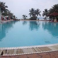 Photo taken at Teluk Dalam Beach Resort by Екатерина Р. on 2/22/2014