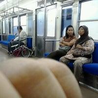 Photo taken at Commuter Line JKT-Serpong by Oktafia D. on 3/12/2013