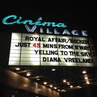 Photo taken at Cinema Village by John S. on 12/20/2012