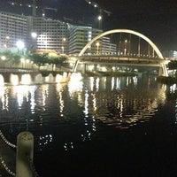 Photo taken at Bridge @ Punggol Walk by Rick on 10/28/2013