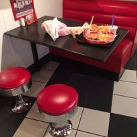 Photo taken at Freddy's Frozen Custard & Steakburgers by Jonathan V. on 10/21/2013
