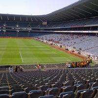 Photo taken at Orlando Stadium by Amukelani M. on 9/24/2013