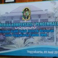 Photo taken at Balai Kota Yogyakarta by Ani H. on 6/1/2016