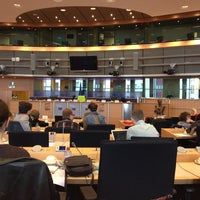 Photo taken at European Parliament Meeting Room JAN 2Q2 by Asher S. on 4/9/2014