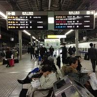Photo taken at JR 新大阪駅 25-26番線ホーム by Hiroki I. on 3/11/2013