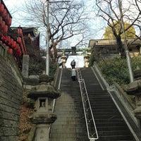 Photo taken at 市谷亀岡八幡宮 by Fuyuhiko T. on 1/25/2013