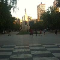 Photo taken at Plaza Rivadavia by Loli O. on 2/3/2014