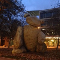 Photo taken at Bear Statue by gloria C. on 1/28/2014