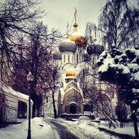 Photo taken at Novodevichy Convent by Kamila T. on 1/31/2013