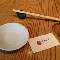 Photo taken at Nobu by Sergio M. on 6/2/2012
