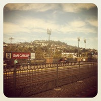 Photo taken at San Carlos Caltrain Station by Leticia S. on 8/21/2012