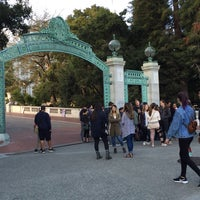 Photo taken at Sather Gate by Luis G. on 8/25/2016
