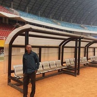 Photo taken at Stadion Gelora Sriwijaya (GSJ) by Will P. on 9/14/2016
