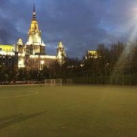 Photo taken at Футбольное поле МГУ by Karpov💀 on 10/7/2015