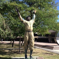 Photo taken at Jackie Robinson Statue by Bryan I. on 9/17/2013