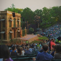 Photo taken at Delacorte Theater by Vincent Y. on 6/5/2014