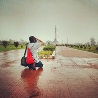 Photo taken at Minar-e-Pakistan by Raheej A. on 7/26/2013