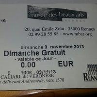 Photo taken at Musée des Beaux-Arts by SuperBreton on 11/3/2013