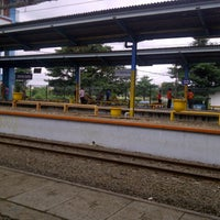 Photo taken at Stasiun Depok Baru by Permata S. on 1/4/2013