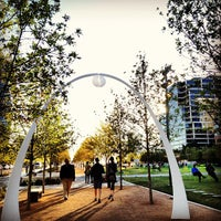 Photo taken at Klyde Warren Park by Penny K. on 10/29/2012