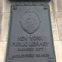 Photo taken at New York Public Library - Muhlenberg by Mitchell R. on 8/12/2013
