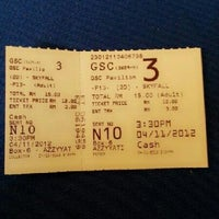 Photo taken at Golden Screen Cinemas (GSC) by Meheheheow on 11/4/2012