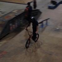 Photo taken at Four Seasons Skate Park by Jim A. on 1/16/2014