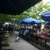 Photo taken at Zeppelin Hall Biergarten by Sue S. on 6/15/2013