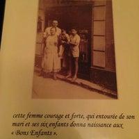 Photo taken at Aux Bons Enfants by Geraldine H. on 3/4/2014