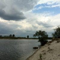 Photo taken at пляж на Пуховке by Anna A. on 8/16/2014