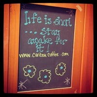 Photo taken at Caribou Coffee by Griffin C. on 1/10/2013