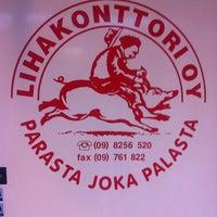 Photo taken at Lihakonttorin Deli by Tomi H. on 12/19/2014